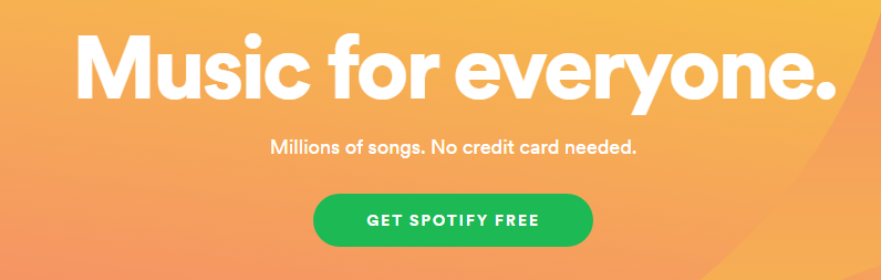 example of CTA, spotify